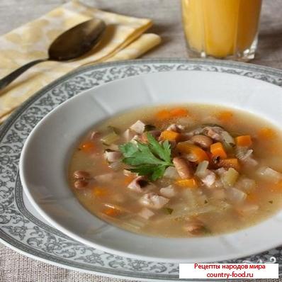 Суп с фасолью консервированной рецепт с пошагово в